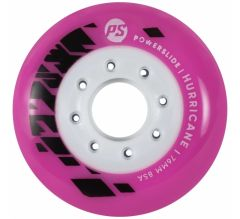 POWERSLIDE Hurricane Wheels 76MM 85A Pink 4pcs set