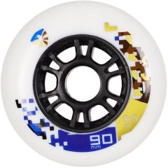 FLYING EAGLE SPEED WHEELS WHITE 90MM 8PCS