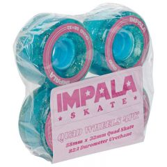Impala Rollerskates Wheels Holographic Glitter 58mm 82A 4pack