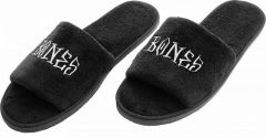 BONES WHEELS Slippers Home School'd Black