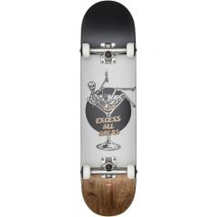 GLOBE G1 Excess White Brown Skateboard complete 8.00
