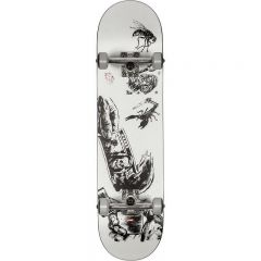 GLOBE G1 Hard Luck White/Black Skateboard Complete 8.00