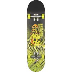 GLOBE G1 Nature Walk Black Toxic Yellow Skateboard complete 8.125
