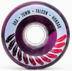 HONDAR FALCON WHEELS 70mmX31mm 86A PINK SET OF 4