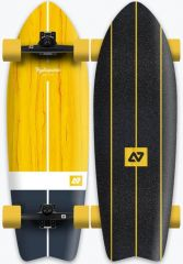HYDROPONIC 30.875 VINTAGE YELLOW SURFSKATE COMPLETE