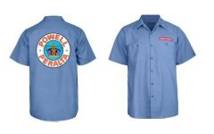 חולצה Powell-Peralta Skateboard Skeleton Work Shirt Blue