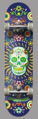 HYDROPONIC MEXICAN SKULL NAVY COMPLETE 7.75