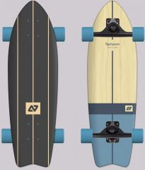 HYDROPONIC VINTAGE CLEAR BLUE SURFSKATE COMPLETE