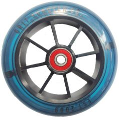 Grit Scooter CO 120mm Scooter Wheel Alloy Core transparent blue