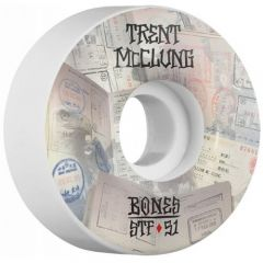 גלגלים לסקייטבורד BONES WHEELS STF Pro McClung Passport 51x30 V1 Skateboard Wheels 83B 4pk