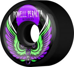Powell Peralta Bomber 3 Skateboard Wheels Black 60mm 85a 4pk