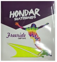 HONDAR FREERIDE GRIPTAPE YELLOW 10''X11'' 4 SHEETS