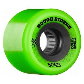 גלגלים לסקייטבורד Bones Rough Riders 56mm Green Wheel 4pk