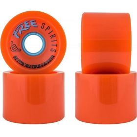 גלגלים לסקייטבורד Free Wheels Spirits 70mm 78A Wheels Orange
