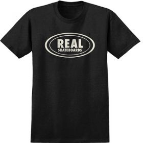 חולצה Real Oval Heather Black Discharger