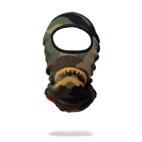 Sprayground Gold Knit Shark Mouth Ski Mask