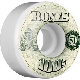 גלגלים לסקייטבורד BONES WHEELS 100's OG Formula 51x32 V4 Skateboard Wheels 100a 4pk