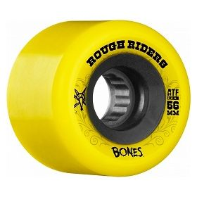 גלגלים לסקייטבורד Bones Rough Riders 56mm Yellow Wheel 4pk