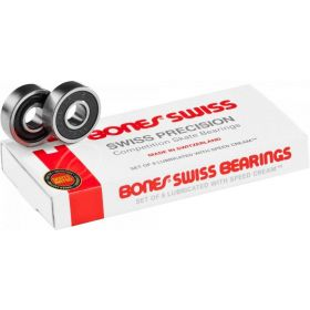 מיסבים Bones Swiss Skateboard Bearings 8 pack