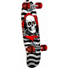 Powell-Peralta Micro Mini Ripper White Complete Skateboard