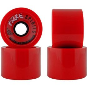 גלגלים לסקייטבורד Free Wheels Spirits 70mm 78A Wheels Red