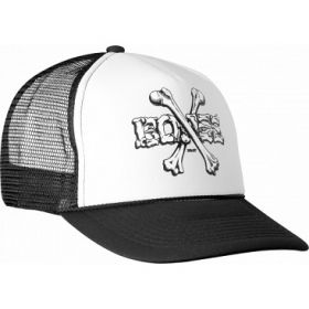 כובע Powell Peralta Cross Bones Trucker Cap - Black/White
