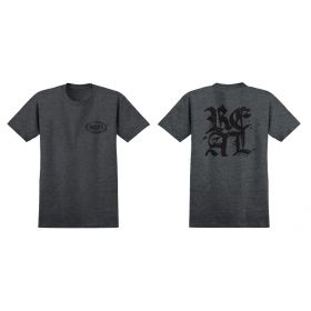חולצה Real Old E Stacked Charcoal Heather/Black