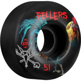 Bones Wheels STF Fellers Roost 51mm Black V2