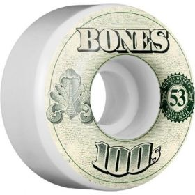 גלגלים לסקייטבורד BONES WHEELS 100's OG Formula 53x34 V4 Skateboard Wheels 100a 4pk